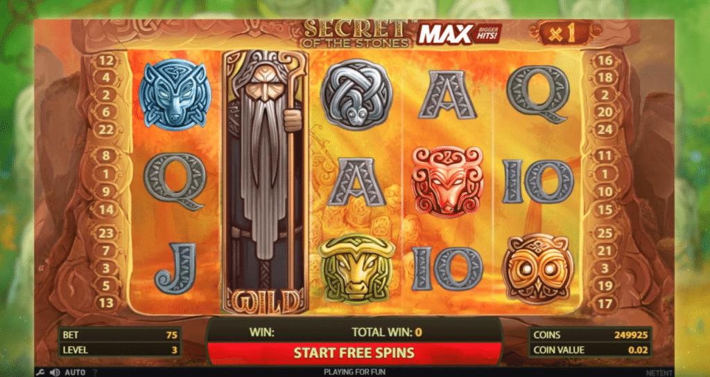 Secret Of The Stones MAX Slot Machine
