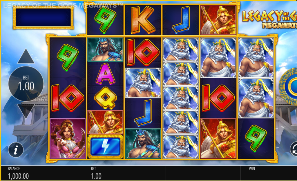 Brand New Blueprint Gaming Slot Release Legacy Of The Gods Megaways
