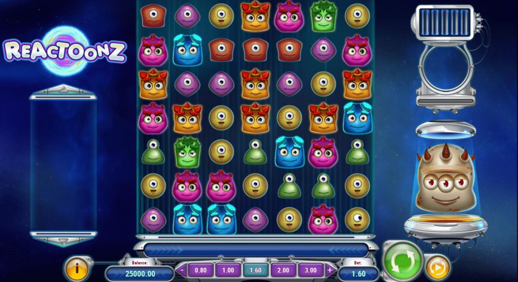 Reactoonz Slot Base Game Play'n Go