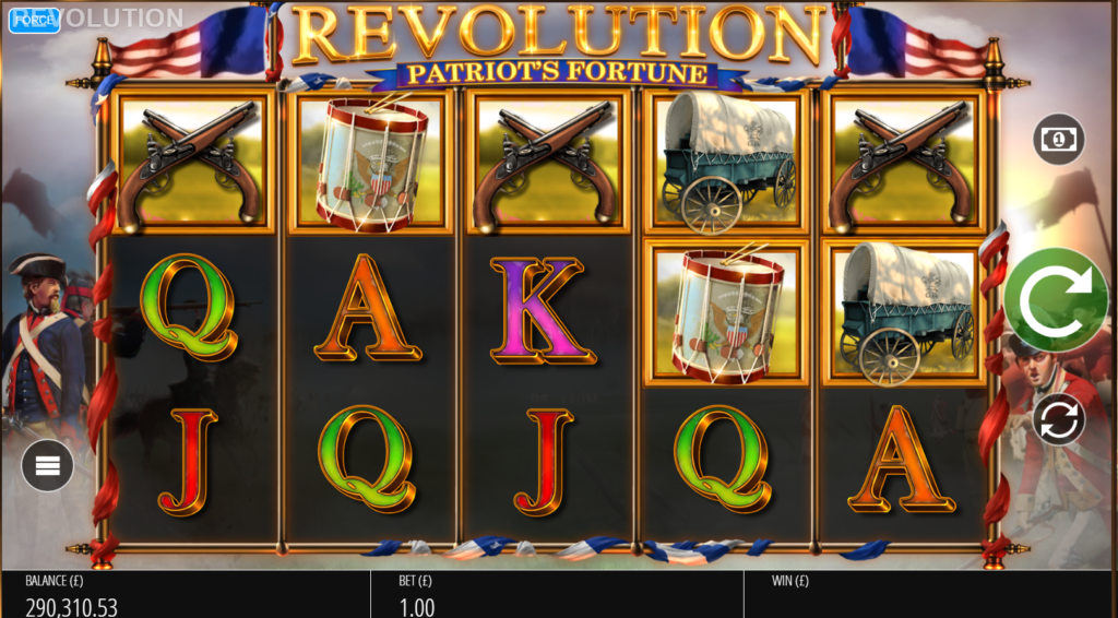 Brand New Blueprint Gaming Slot Release Coming Soon Revolution Patriots Fortune