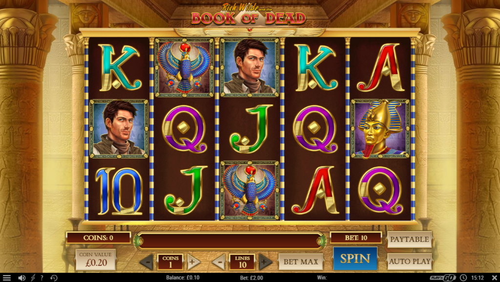 Book Of Dead Play'n Go Casino Slot Release Symbols Pay Table Visuals
