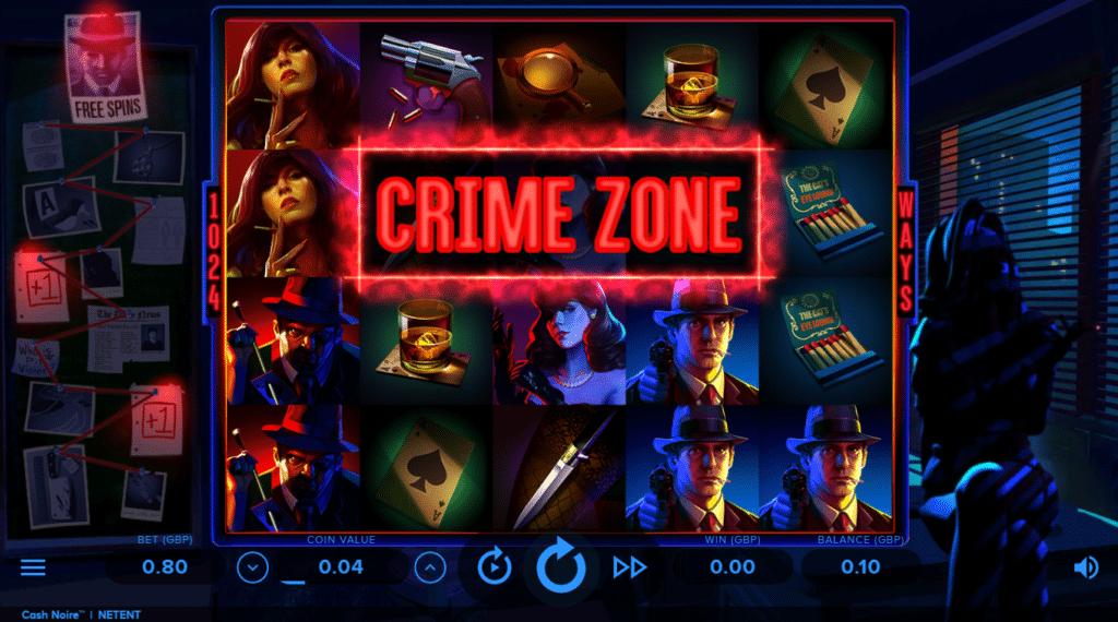 Cash Noire NetEnt Slot Review Casino Crime Visuals Base Game