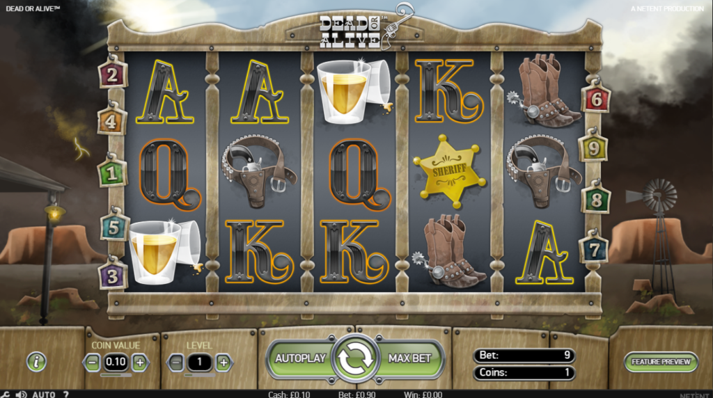 Dead Or Alive Slot Review NetEnt Casino Game Visuals Game Play Visuals