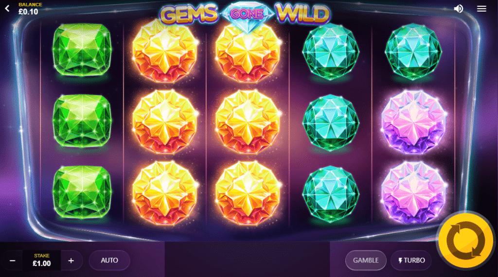 Gems Gone Wild Power Reels Slot Review Casino Base Game Visuals Art Work