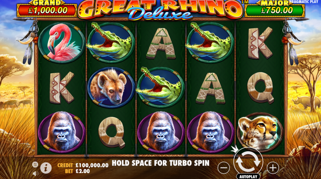 Great Rhino Deluxe Slot Release Casino Review Pragmatic Play Visuals Base Game
