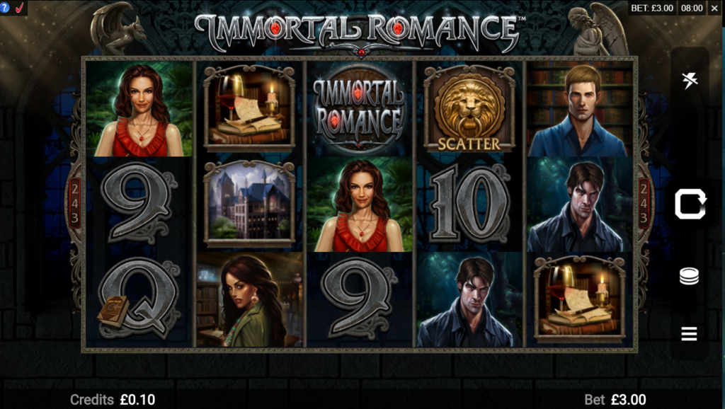 Immortal Romance Microgaming Slot Review Visuals Art Work Casino Slots Game