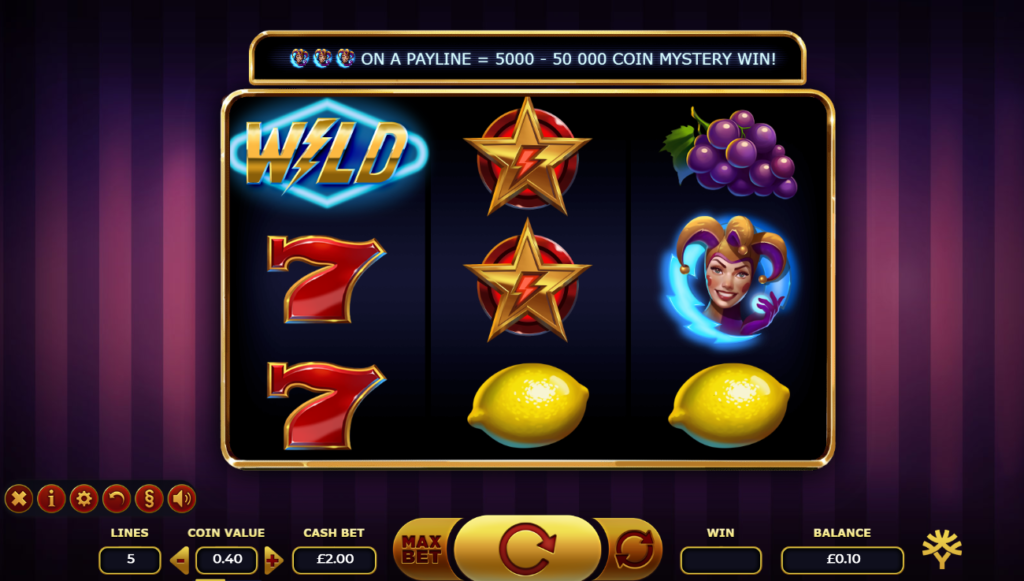 Lightning Joker Slot Review Yggdrasil Gaming Casino Visuals Graphics Art Work