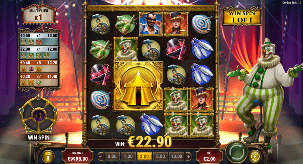 Golden Ticket 2 Slot Review Casino Play'n Go Artwork Visuals Base Game