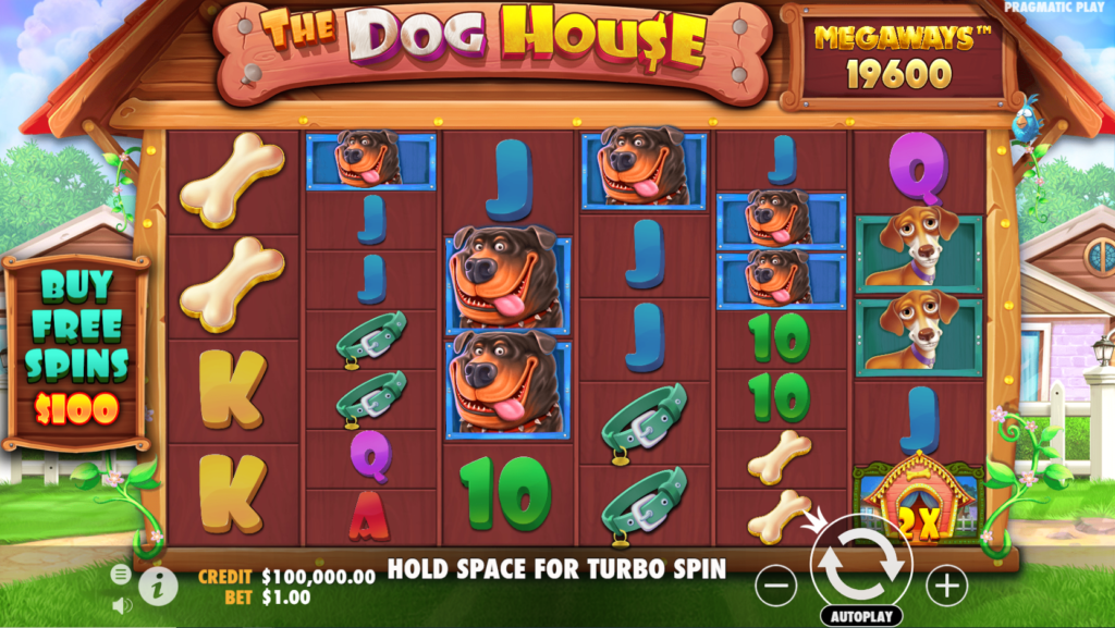 The Dog House Megaways Casino Slot Review Pragmatic Play Visuals Base Game Art Work