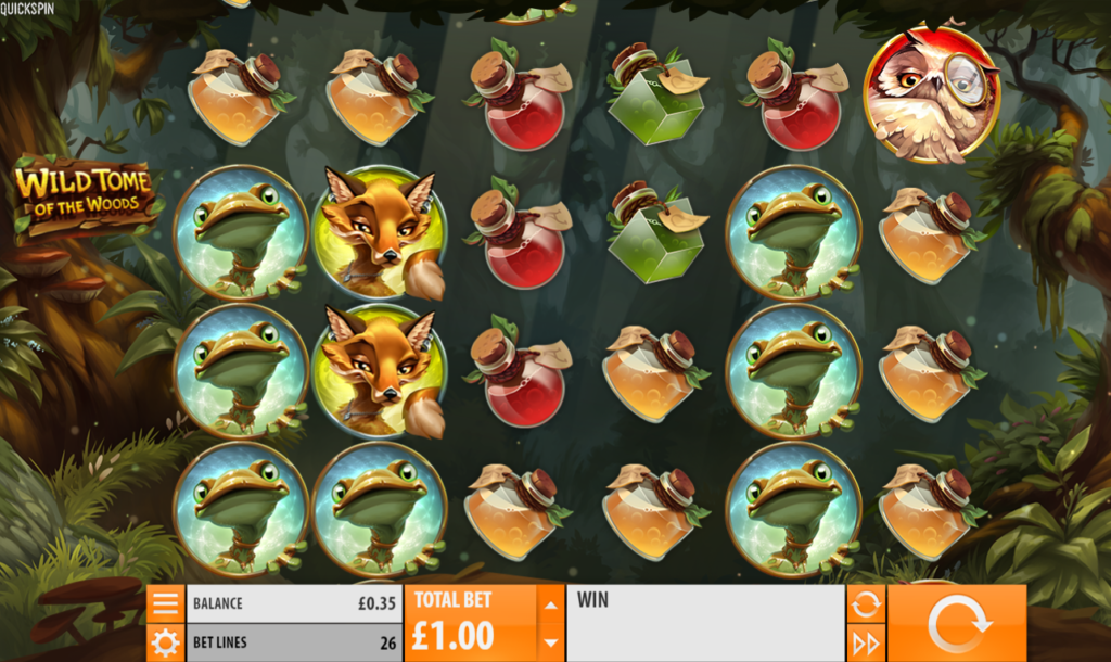 Wild Tome Of The Woods Casino Slot Review Visuals Base Game Art Work
