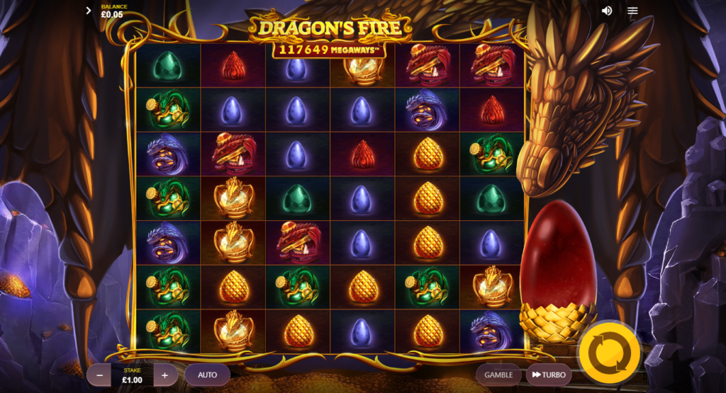 Dragons Fire Megaways Slot Review Red Tiger Gaming Casino Visuals Base Game Art Work
