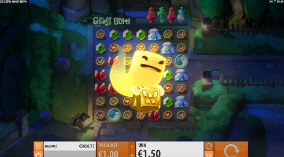 Ghost Glyph Slot Review Quickspin Visuals Base Game Art Work Game Play