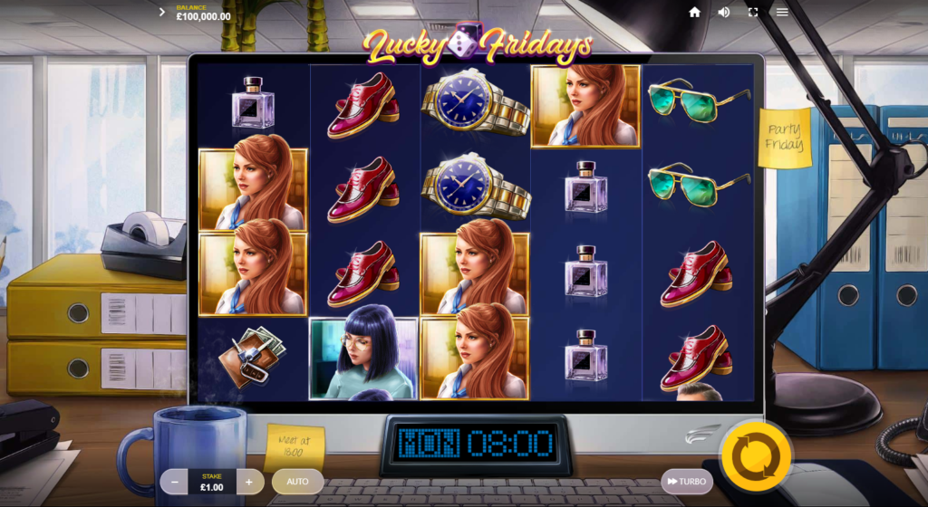 Lucky Fridays Slot Review Red Tiger Gaming Visuals Casino Base Game Art Work Symbols