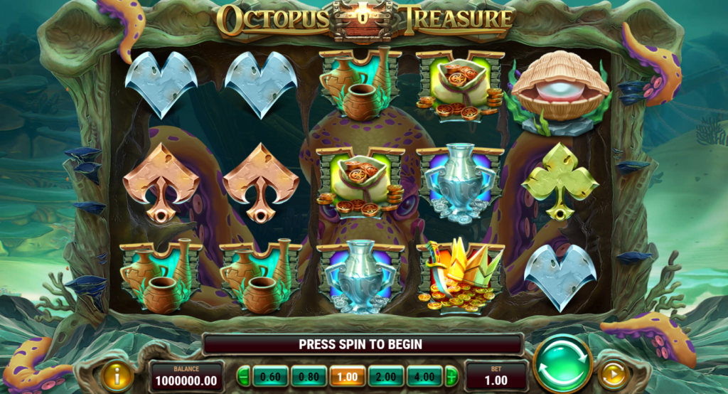Octopus Treasure Slot Review Play'n Go Visuals Base Game Art Work