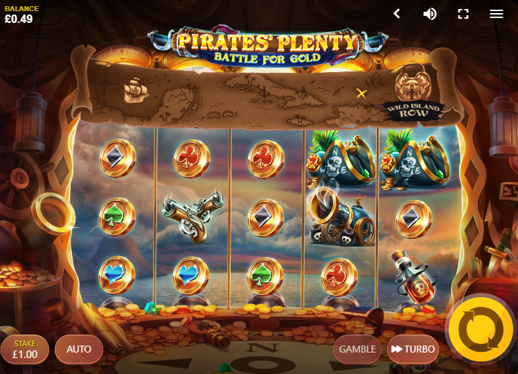 Pirates Plenty Battle For Gold Slot Review Red Tiger Gaming Base Game Visuals Art Work