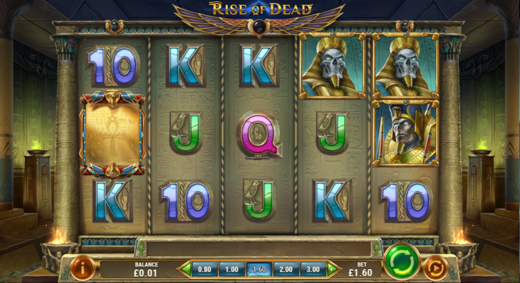 Rise Of Dead Slot Review Play'n Go Visuals Base Game Art Work Casino Symbols