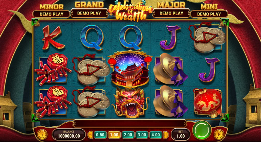 Celebration Of Wealth Slot Review Play'n Go Casino Visuals Symbols Pay Table