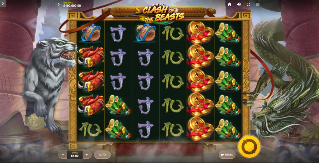Clash Of The Beasts Slot Review Red Tiger Gaming Casino Visuals Base Game