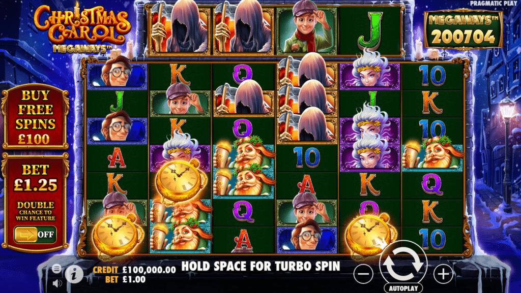Christmas Carol Megaways Slot Review Pragmatic Play Casino Visuals Symbols Pay Table