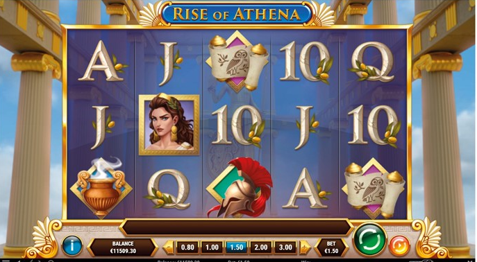 Rise Of Athena Slot Review Play'n Go Casino Visuals Base Game Symbols Pay Table