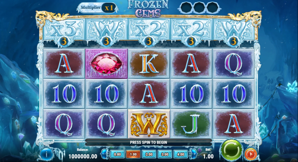 Frozen Gems Slot Review Play'n Go Casino Visuals Symbols Pay Table