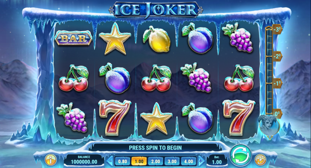 Ice Joker Slot Review Play'n Go Casino Base Game Pay Table Symbols