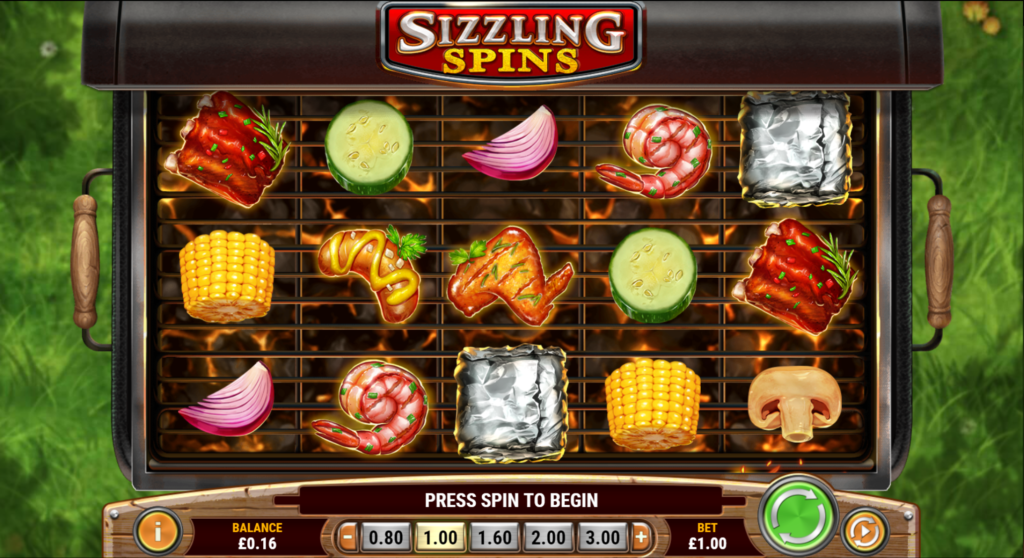 Sizzling Spins Slot Review Play'n Go Visuals Casino Pay Table Symbols