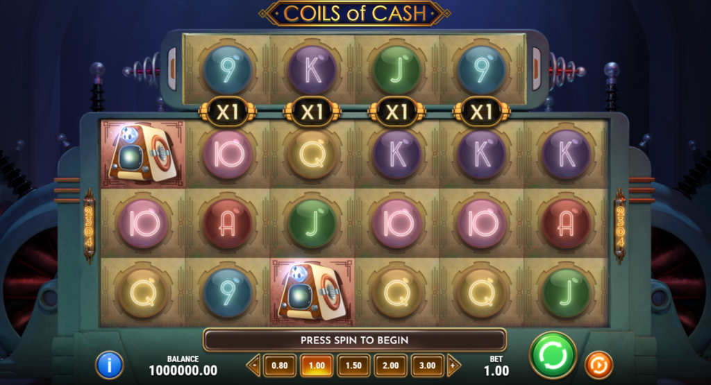 Coils Of Cash Slot Review Play'n Go Casino Visuals Symbols Pay Table Base Game
