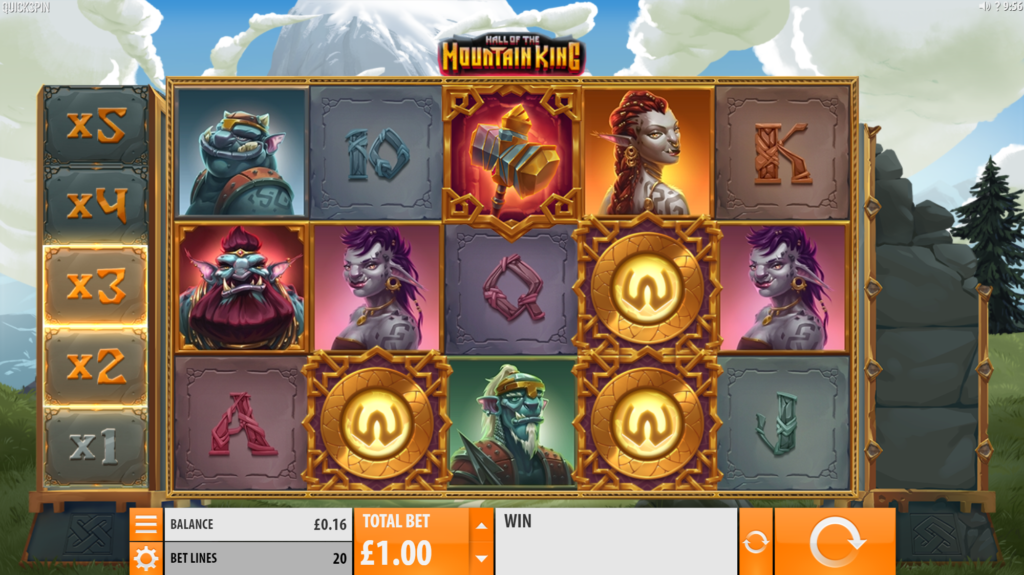 Hall Of The Mountain King Slot Review Quickspin Visuals Base Game Pay Table Symbols