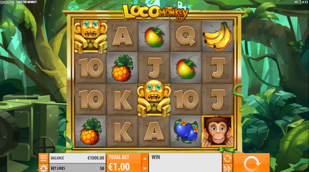 Loco The Monkey Slot Review Quickspin Casino Base Game Visuals Symbols Pay Table