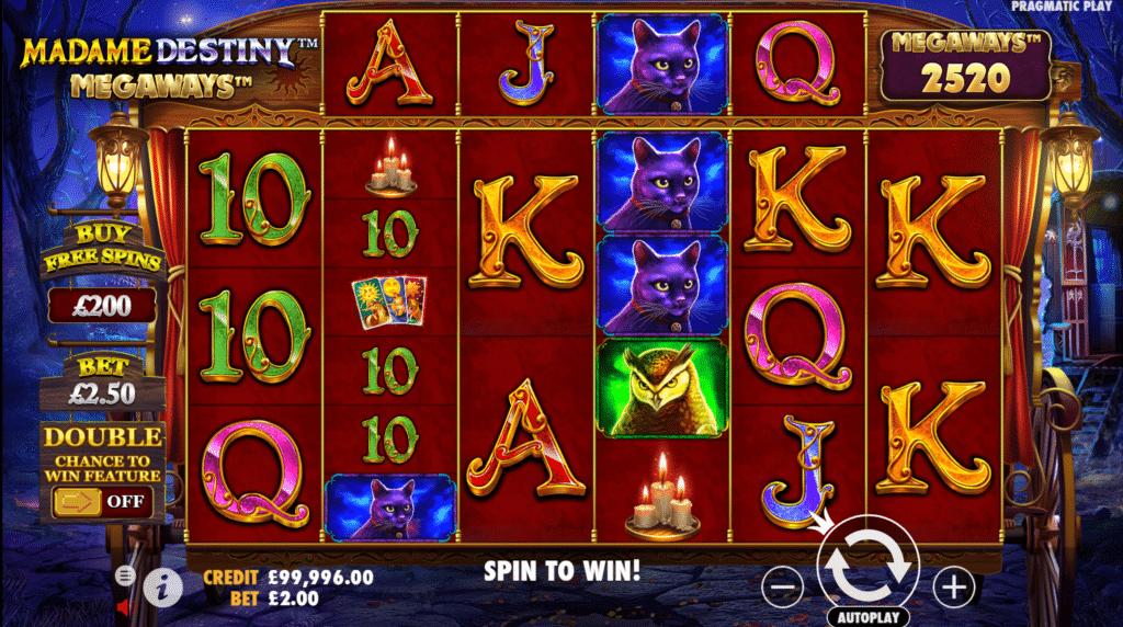 Madame Destiny Megaways Slot Review Pragmatic Play Casino Visuals Pay Table Symbols