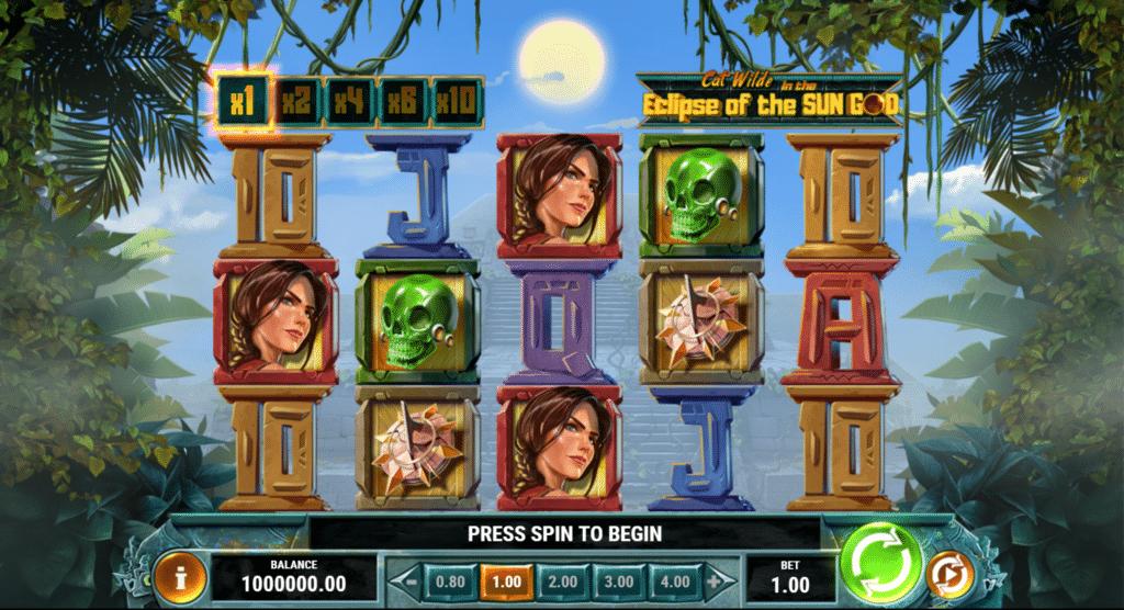 Cat Wilde In The Eclipse Of The Sun God Slot Review Play'n Go Visuals Bonus Casino Symbols