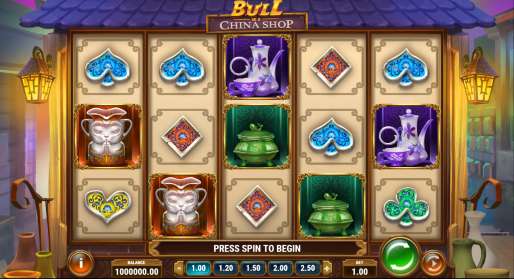Bull In A China Shop Slot Review  Play'n Go Visuals Base Game Pay Table Features