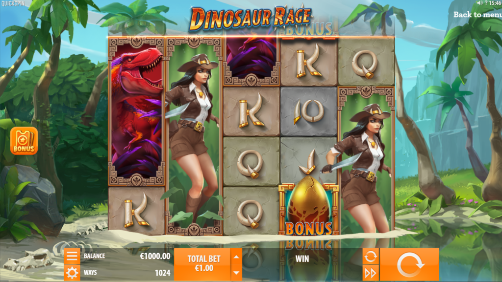 Dinosaur Rage Slot Review Quickspin Visuals Base Game Features Bonus Casino