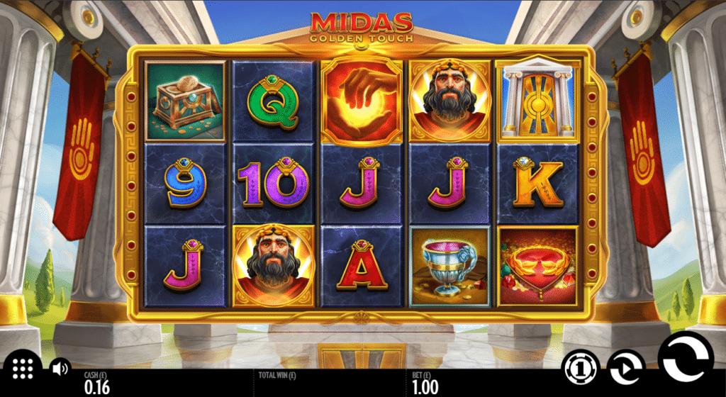 Midas Golden Touch Slot Review  Thunderkick Visuals Symbols Bonus Varience