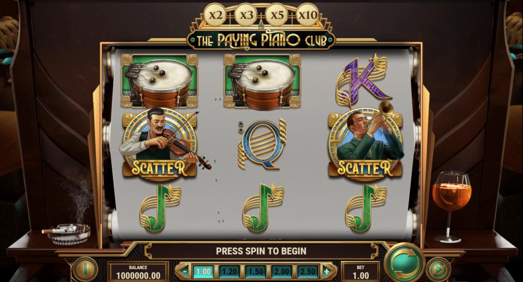 The Paying Piano Club Slot Review  Play'n Go Visuals Bonus Volatile