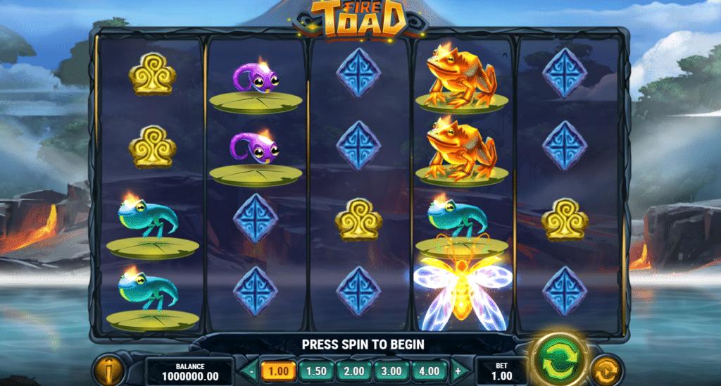 Fire Toad Slot Review Play'n Go Bonus Visuals Volatile Symbols