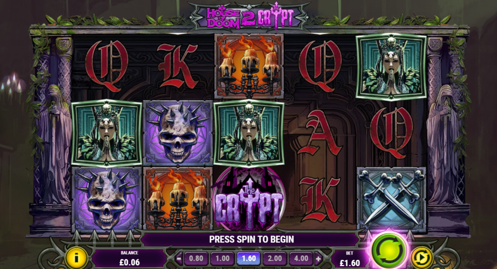 House Of Doom 2 The Crypt Slot Review Play'n Go Visuals Symbols Pay Table Volatile
