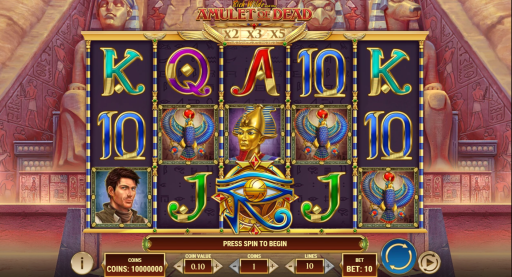 Rich Wilde And The Amulet Of Dead Slot Review  Play'n Go Visuals Symbols Pay Table Volatile