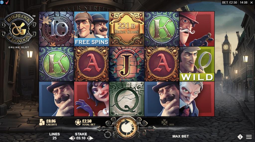 Sherlock Of London Slot Review Rabcat Gambling Visuals Symbols Casino Bonus