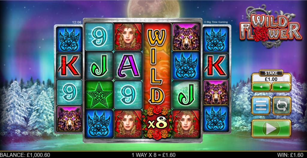Wild Flower Slot Review  Big Time Gaming Visuals Symbols Varience Volatile Bonus