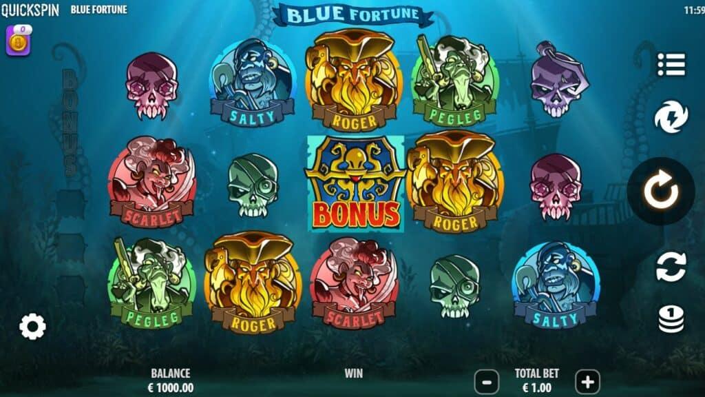 Blue Fortune Slot Review  Quickspin Visuals Casino Bonus Symbols Volatile