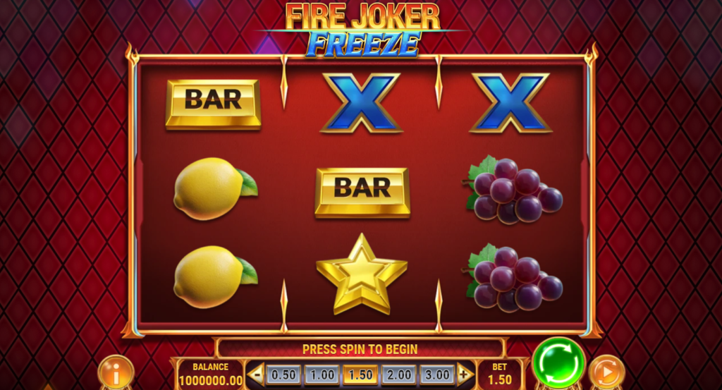 Fire Joker Freeze Slot Review  Play'n Go Visuals Symbols Base Pay Table Volatile