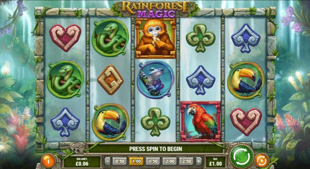 Rainforest Magic Slot Review  Play'n Go Symbols Visuals Bonus Casino