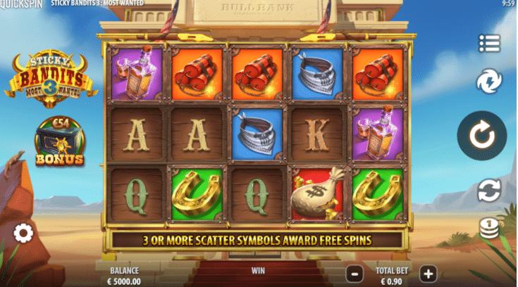Sticky Bandits 3 Most Wanted Slot Review  Quickspin Casino Slot Visuals Symbols Volatile Bonus