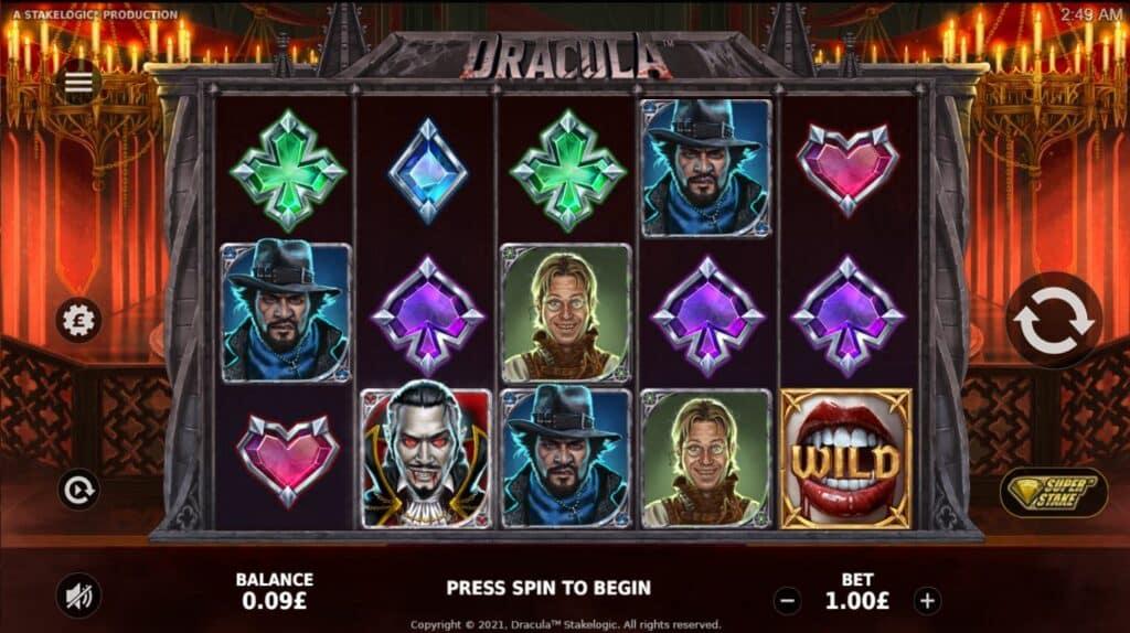 Dracula Slot Review  Stakelogic Visuals Volatile Bonus Symbols Casino