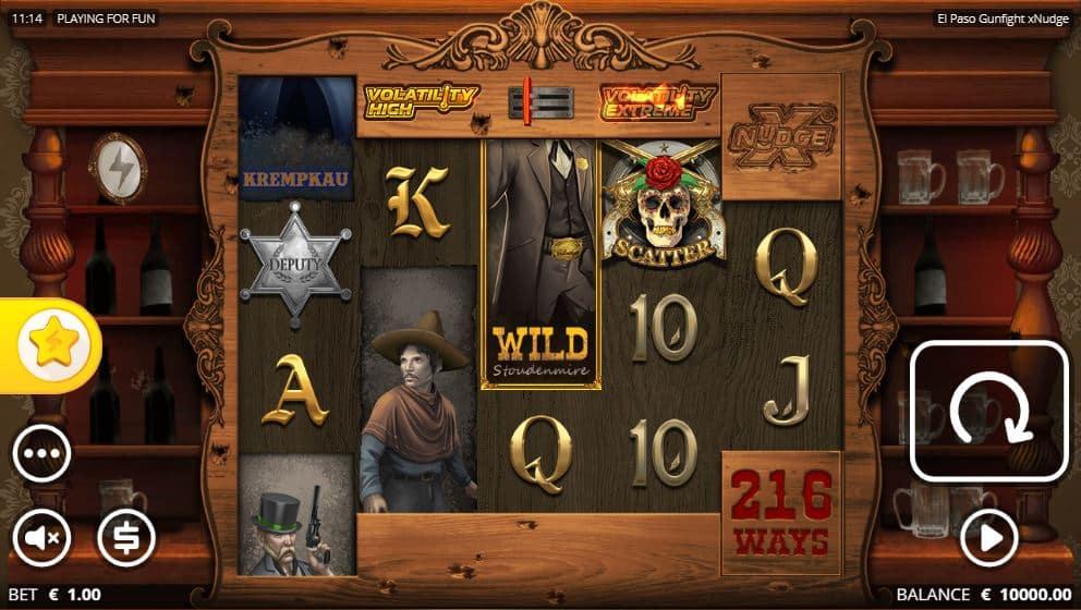 El Paso Gunfight xNudge Slot Review Nolimit City Casino Slots Bonus Volatile