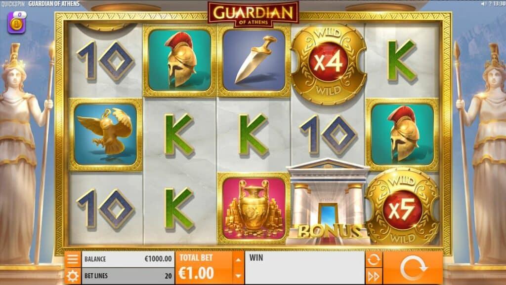 Guardian Of Athens Slot Review Quickspin Visuals Symbols Pay Table Bonus