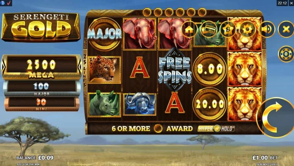 Serengeti Gold Slot Review  Just For The Win Casino Symbols Bonus Volatile