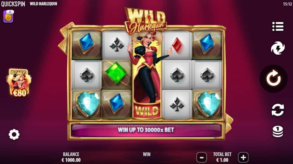 Wild Harlequin Slot Review  Quickspin Visuals Symbols Bonus Casino Volatile